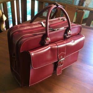 Franklin Covey Rolling Laptop Case Briefcase